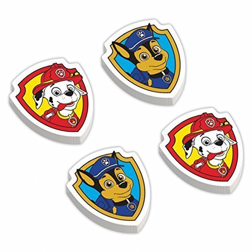 12 Paw Patrol Rubber Erasers Stationery Party Favours