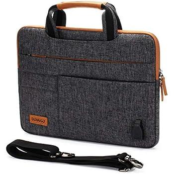 68cb273905 DOMISO 14 Pouces Imperméable Housse de Protection Ordinateur Portable avec  Port de Chargeur USB Externe Sacoche