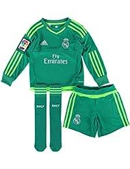 adidas A GK SMU M - Chándal Real Madrid CF 2ª equipación 2015/2016 unisex, color verde / blanco, talla 152