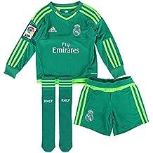 adidas A GK SMU M - Chándal Real Madrid CF 2ª equipación 2015/2016 unisex, color verde / blanco