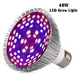 Sumchimamzuk Vollspektrum Pflanzenlampe LED Wachstumslampe mit 40W 78 LEDs Pflanzenleuchte Pflanzenlicht kompatibel mit Standard E26 / E27 Buchsen