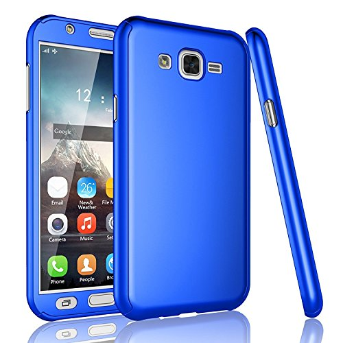 GSMOBILE® Blue Slim Fit 360 Degree Full Body Protection Hybrid Case Cover For Samsung Galaxy Grand 2 (7102/7106) ( includes front & back cover & screen tempered glass )  available at amazon for Rs.299