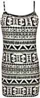 Womens Print Ladies Sleeveless Strappy Stretch Long Cami Vest Tank Top - 8-14