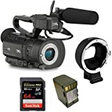 Kit Camcorder GY-LS300 JVC 4K Ready CMOS super35 - Ultra HD 24/30p 150Mbps + 1 Battery + 1 Memory Card Sandisk 64Gb - 95Mb + Adapter AF Canon EF - Sony E-Mount