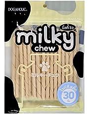 Dogaholic Milky Chews Sticks Dog Treat (30 Pieces)