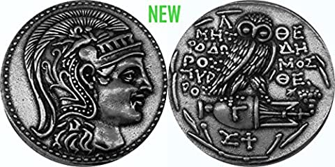 Athena, Goddess of Wisdom, with Owl and Amphora Coin, (83-S Version 3) New Style, 133-132 B.C. 29 mm, 12 g. (Larger than US quarter 24