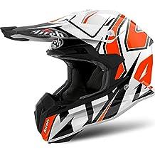 Airoh Helmet Terminator Open Vision Shock, Naranja, tamaño XL