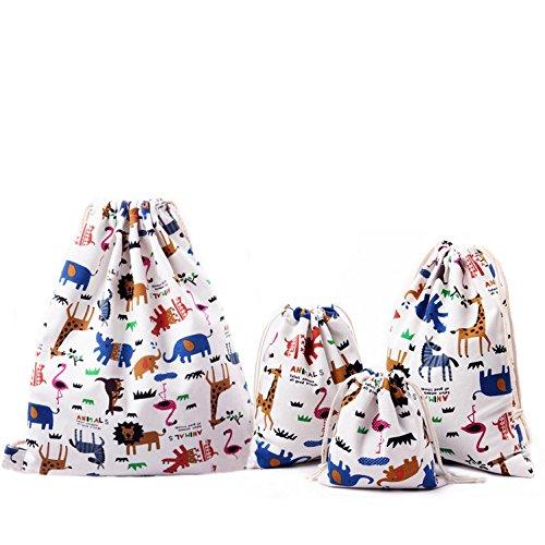 7064a3102 Abaría - 4 unidades bolsa de tela grande tela - bolsa inserto organizador -  bolsa inserto bebé - bolsa de tela para ropa - grande 37 x 40 cm, mediano  25x 30 ...