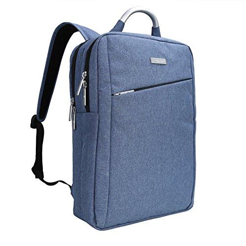 Impermeabile antiurto e leggero tessuto di Oxford 15.6 Pollici Borsa zaino del computer portatile /Messenger Bag Tablet Cartella zaino scuola (Blu)