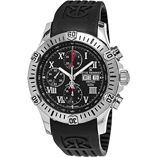 Revue Thommen Air Speed Homme 44mm Noir Automatique Montre 16071.6837