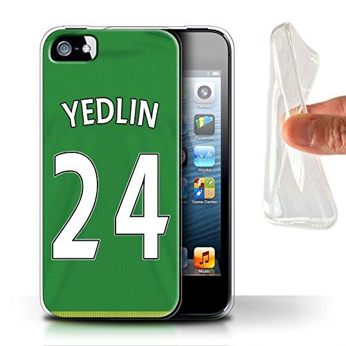 Officiel Sunderland AFC Coque / Etui Gel TPU pour Apple iPhone SE / Pack 24pcs Design / SAFC Maillot Extérieur 15/16 Collection Yedlin