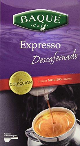 Cafés Baqué Café Molido La Colección Expresso Descafeinado - 250 gr - [Pack de 8]