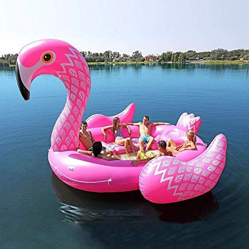 LJ Swimmingpool PVC-Insel-riesiges Einhorn-sich Hin- Und Herbewegende Reihe Aufblasbare Spielwaren, Flamingo-Pfau-super Große Sich Hin- Und Herbewegende Bett-Wasser-Floss-Spielwaren Passend Für 6 Leut (Insel Lagerung)