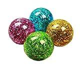 HAAC Ball mit Licht blinkender Flummi Flummiball Gummiball mit Glitzerstreifen