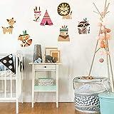 Stikers Chambrestyle Indien Créatif Papier Peint Petit Animal Mignon Dessin Animé Salon Chambre Décoration Chambre Autocollants...