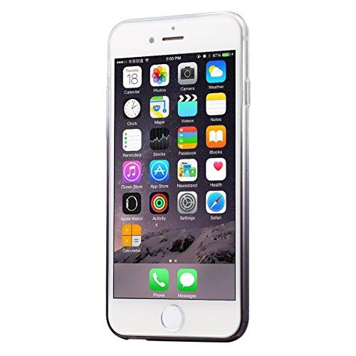 Wkae Case Cover 100 PCS HAWEEL für iPhone 6 Plus &6s Plus-Ultra Slim Gradient Farbe klar weicher TPU Fall, kein Kleinpaket ( Color : Black ) Black
