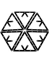 Estante de magia - SODIAL(R) 6pzs Estante de magia Accesorios de taco de triangulo de billar negro 8,9 y 10 bolas