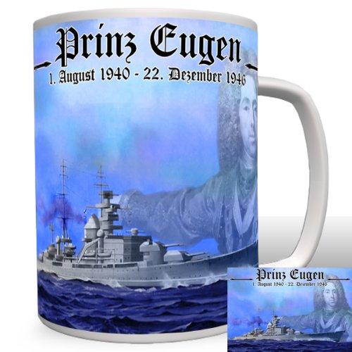 Prinz Eugen Schlachtschiff - Tasse Becher Kaffee #2303 (Kaffee-prinz-becher)
