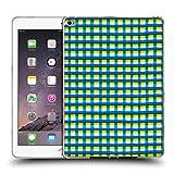 Head Case Designs Offizielle Ninola Gekreutzte Augen Blaue Lineen Geometrisch Soft Gel Hülle für iPad Air 2 (2014)