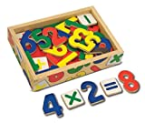 Melissa & Doug Wooden Number Magnets in a Box, 37 Pieces