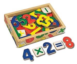 Melissa & Doug - Juego de números magnéticos de madera, 37 piezas (10449)
