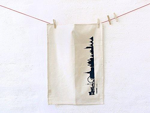 Torchon Vienne en coton bio - Coloris différents - City Towel de 44spaces Natur/Schwarz
