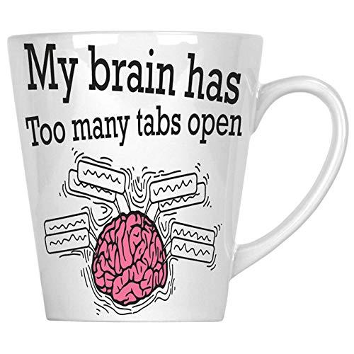 Mein Gehirn hat zu viele Tabs geöffnet 34 cl Latte Tasse cc444L