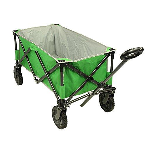 Fridani carretto a Mano Verde BTG XL Carrello da Spiaggia 75 kg Carrello Pieghevole Stabile Maniglia