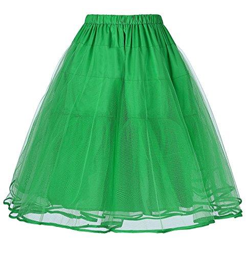 50s Vintage Rockabilly Petticoat fuer Kleid Brautkleid Gruen L BP229-7 (Brautkleid Petticoat)