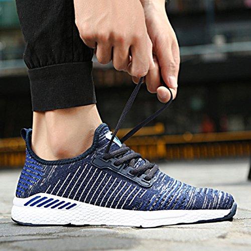 NEOKER Schuhe Herren Damen Turnschuhe Tennisschuhe Freizeitschuhe Sneakers Blau