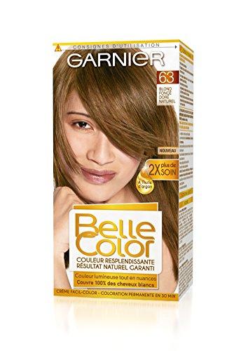 Garnier - Belle Color - Coloration permanente Châtain - 63 Blond foncé doré naturel Lot de 2