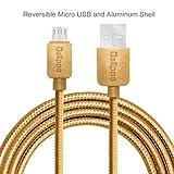 Prima Delippo® Hi-Speed trenzado de nylon que no se enreda libre del USB 2.0 macho a Micro USB Data Sync cable de la carga de adaptador universal perf
