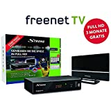 STRONG SRT 8541 Full-HD-HEVC-DVB-T2 Receiver mit Antenne, freenet-TV (HDTV, HDMI, LAN, Scart, Dolby, Mediaplayer) Starter-Set Schwarz