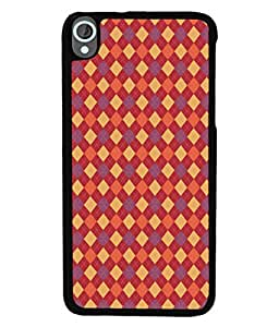PrintVisa Designer Back Case Cover for HTC Desire 820 :: HTC Desire 820 Dual Sim :: HTC Desire 820S Dual Sim :: HTC Desire 820Q Dual Sim :: HTC Desire 820G+ Dual Sim (Colourful red yellow orange purple violet )