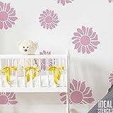 Sonnenblume Kinderzimmer dekorieren Schablone Kinderzimmer Mädchen Blumen Haus Wand Dekorieren Kunst & Basteln Schablone Farbe Wände Stoffe & Möbel 190 Mylar wiederverwendbar Schablone