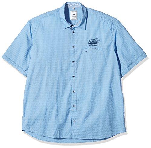 LERROS Große Größe Hemd, Chemise Homme Bleu (Dusty Blue 422)