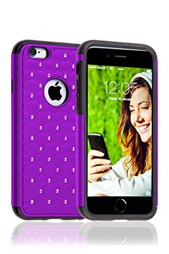 iPhone 6 Cover Case Protettiva - Trasparente - Azzurro - SILICONE - TPU - antiurto, Antigraffio - By SWISS-QA (iPhone 6 6S 4.7) Cover - CASTEL - Viola