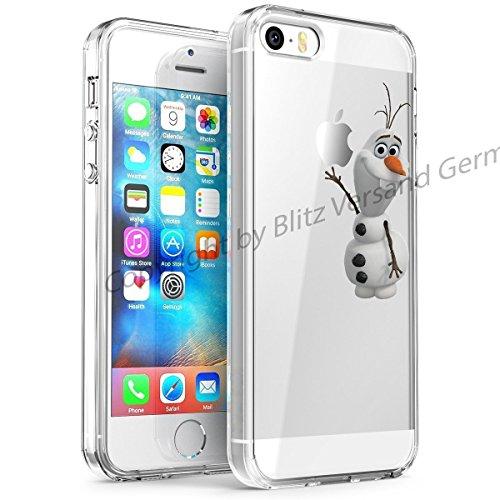 Blitz® DISNEY Schutz Hülle Transparent TPU Cartoon Comic Case iPhone Arielle, die Meerjungfrau iPhone 6 OLAF Froozen