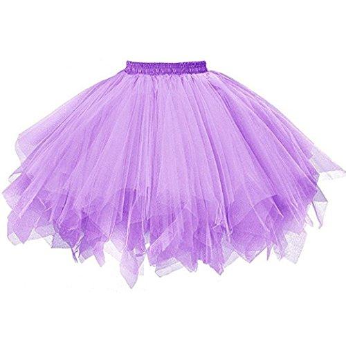 FNKDOR Tüllröcke Petticoat Kurze Damenrock Tutu Rock Ballet Unterkleid Unterrock ()