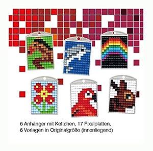 Pracht Creatives Hobby P90011-63501 - Juego de Manualidades para Manualidades (4 para 6 medallones, Llavero, para niños, niños y niñas, Ideal como pequeño Regalo, para cumpleaños Infantiles)