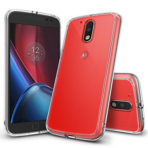 Moto G4 / G4 Plus Hülle, Ringke FUSION kristallklarer PC TPU Dämpfer (Fall geschützt/ Schock Absorbtions-Technologie) für das Motorola Moto G4 / G4 Plus – Kristallklar