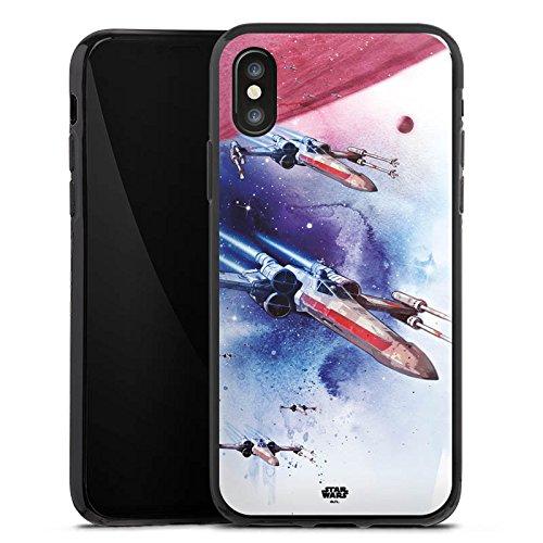 Apple iPhone 5 Silikon Hülle Case Schutzhülle Star Wars Merchandise Fanartikel X-Wing Silikon Case schwarz