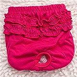 VCB Couche Culotte de Chien Pantalon physiologique hygiénique Lavable Culotte pour Chien - Culotte - Rose (l)