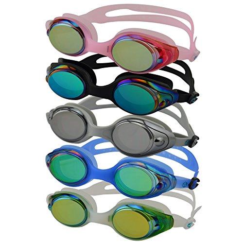#DoYourSwimming »Snake« Schwimmbrille / 100% UV-Schutz + Antibeschlag/Starkes Silikonband + Stabile Box/AF-600m / blau