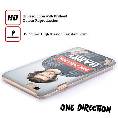 Offizielle One Direction Shirt Weiss Foto Harry Styles Ruckseite Hülle für Apple iPhone 6 / 6s Polo