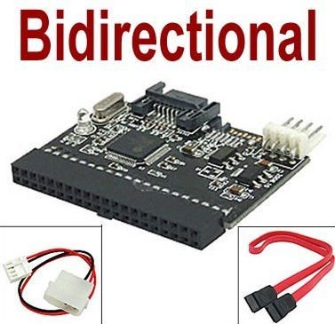 BIGtec 2in1 S-ATA / IDE IDE / S-ATA Adapter Converter Bidirektional SATA-IDE-SATA Adapter Konverter mit diesem Adapter können IDE und SATA wahlweise an Mainboord bzw. internen Anschluß oder extern anschließen / Adapter funktioniert in beide Richtungen