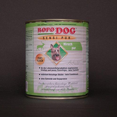 ropodog Adult sensi Pur Hirsch-Pures carne 30lattine da 800Gr.