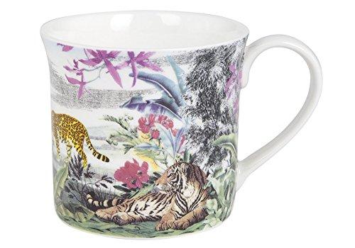 Ashdene Jungle Kingdom - Cats - Fine Bone China Cup Mug Porzellantasse Tasse Becher tazza taza 8cm 260ml, Gift box, best quality, ASHDENE, Australia Bone China Cup 8