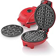 Saachi 2-in-1 Doughnut and Waffle Maker, 1545, Red, 1 Year Brand Warranty
