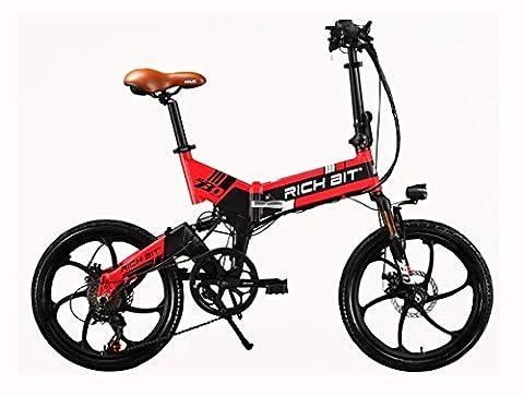 Rich Bit RT730 Vélo électrique pliant pour homme/femme 250W 48V
